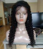 Perruque bon marché de lacet d'avant de cheveu de Vierge de pleine de lacet de perruques onde péruvienne d'eau profonde