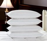 高品質の100%年の綿カバー白いアヒルの羽の枕
