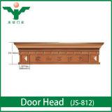 Les modèles classiques imperméabilisent l'en-tête de double porte en bois avant de Soild de villa