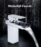Queda de água quente / frio All-Copper Quadrilátero de Furo Único torneira da bacia hidrográfica