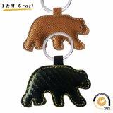 regalo de promoción de alta calidad de cuero Llavero Llavero de anillo-1