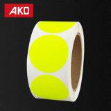 Pleine couleur point rond blanc papier cristal étiquette auto-adhésif de chemise de l'autocollant