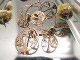 ファッション小物の模造宝石類の金カラーバランスは女性のための天秤座のイヤリングを位取りする
