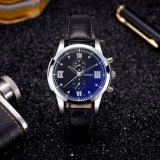 Eindeutige wasserdichte Mann-Uhr-blaue Glasquarz-Uhr des Entwurfs-H384 für Männer