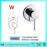 Mezclador redondo de la ducha de la en-Pared del cuarto de baño de la filigrana sanitaria de las mercancías (HD520)