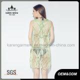 La frangia di modo lavora a mano il vestito dallo Swimwear/del serbatoio per le donne
