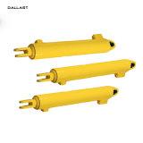 Brincos de Ação Única / Pé Dallast de fixação do cilindro hidráulico telescópico, 16-32 MPa