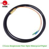2 Cores Outdoor Singlemode Sc / LC / St / FC Fibre Optique Pigtail étanche