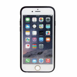 Caja del teléfono móvil de la goma TPU de la PU para el iPhone 6s