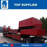 Titan Lowboy faibles dimensions du lit de 100 tonnes de remorque 6 essieux remorque extensible de chargeurs de faible à la vente au Qatar