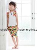 T-Shirt+Pants variopinto delle ragazze Sleeveless del cotone in vestiti dei bambini