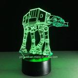 공장 공급 별 전쟁 7 색깔 변경 LED 3D 환영 USB 밤 빛 책상용 램프