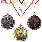 Personalizar el cordón de Baloncesto de alta calidad de la medalla de metal para 1º, 2º, 3er.