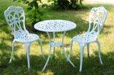 Jogo da mobília de 2 restaurantes do jardim do alumínio de molde do assento