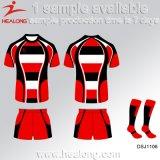 Rugby d'années de l'adolescence d'équipe d'école de sublimation de vêtements de sport de service d'ODM de Healong à vendre