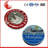 Timbre promotionnel coin pour les entreprises avec logo personnalisé