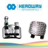 金属の歯科矯正学ブラケット、歯の波カッコ、歯科波カッコ