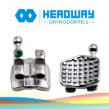 セリウムのFDAが付いている高品質MIM Monoblockの小型歯科矯正学ブラケット