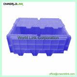 Bewegliche Verschachtelung und Stapeln des festen Kunststoffgehäuse-Kastens mit Sicherheits-Kappe
