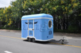 De de kleine Commerciële Aanhangwagen van het Voedsel en Vrachtwagen van het Voedsel met Blauwe Kleur