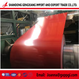 Échantillon gratuit de couleur rouge d'acier galvanisé prélaqué bobine/PPGI/PPGL