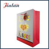 O feriado do dia do `S do Valentim personaliza o saco de papel de carimbo quente impresso do ouro