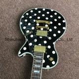 Гитара Lp таможни электрическая с белым пятном на теле (GLP-538)