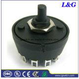 Negro 8A Mfr01 Interruptor giratorio