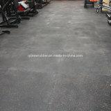 Gimnasio azulejos Pavimentos de caucho con motas de caucho EPDM blanco