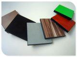 Hoja de resina de laminado en color madera veteada junta
