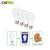공장 공급 플라스틱 입히는 알루미늄 E27 E26 B22 LED 전구 3W 5W 7W 9W 12W 15W 2700K-6500K 세륨 RoHS