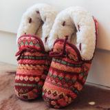 Tricotado interior inverno Senhora pantufas