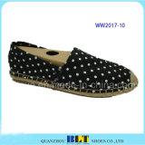 Pattini casuali delle calzature del reticolo di PUNTINO della tela di canapa di alta qualità