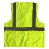Ciao maglia riflettente di sicurezza di forza con la casella e la chiusura lampo