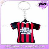 Красочные Custom Спортивные футболка ПВХ цепочки ключей кольцо