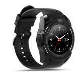 円形の眺めの多重言語(W8)のスマートな腕時計の電話