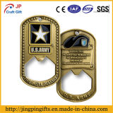 Zink-Legierungs-Militärmetallbierflasche-Öffner mit weichem Decklack-Farbanstrich