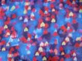 600d Tissu en polyester à haute densité avec imprimé cardiaque avec PVC / PU