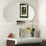 Frameless Silver Mirror Glass con Polished Edge per Bathroom, Wash Basin Mirror con Metal Hangers