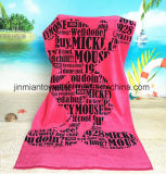 100% coton imprimé Serviette de plage Serviette de bain en velours avec des modèles colorés