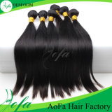 7A Grade Unprocessed VirginブラジルのNatural Black Straight Hair