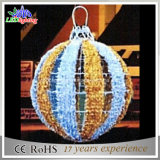 120cm 옥외를 위한 3D 크리스마스 공 주제 빛