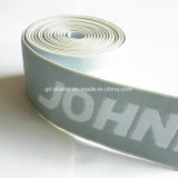 O design do logotipo personalizado 1.5inch elastano POLIÉSTER ELÁSTICO bordados