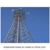 tour en acier de télécommunication galvanisée par 60m de 30m 40m 50m