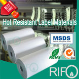 Anti-traction, autocollant de fer d'étiquette de papier à haute température