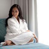 Klassische Schal-Muffen-Baumwollweißer Bademantel-Hotel-Bademantel für USA