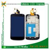 Pantalla caliente del LCD del teléfono móvil para el nexo del LG Google 4 E960