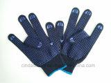 Двойной ПВХ точек охраны труда промышленной безопасности работы хлопок перчатки