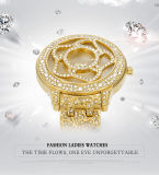 Zwei Farben-Gold,  Silberne Luxuxblumen-Kleid-Frauen-Uhr-Quart-Batterie-Dame Armbanduhr neuester AAA-hochwertiger Markenname Belbi