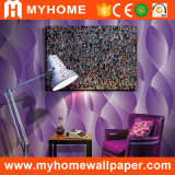 3D del interior de color púrpura el papel tapiz de entretenimiento (YS-190506)